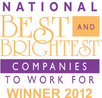 101 Best and Brightest companies to work for - 2012 Winner