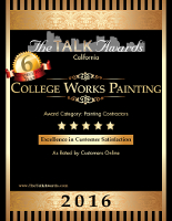 Talk of the Town College Works Painting Excellence in Customer Satisfaction 2016